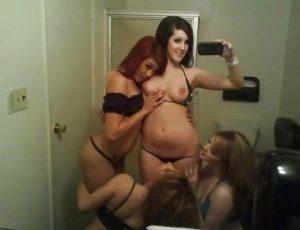Selfie sexy de 4 copines de fac