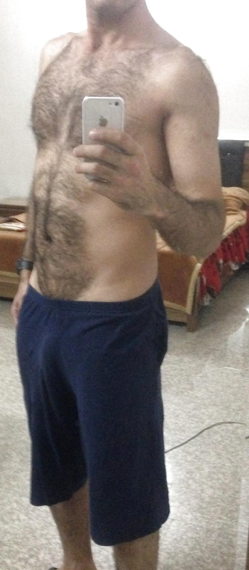 Selfie bel homme de 40 ans