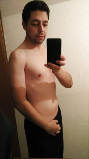 Selfie homme très timide