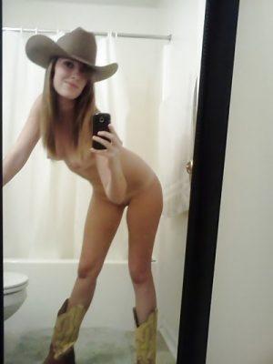 Selfie déguisée en cow girl