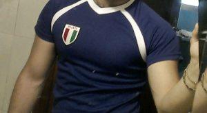 Selfie supporter italien