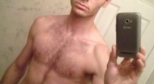 Selfie d'un mec chaud