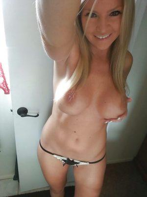 Sex selfie d'une belle blonde