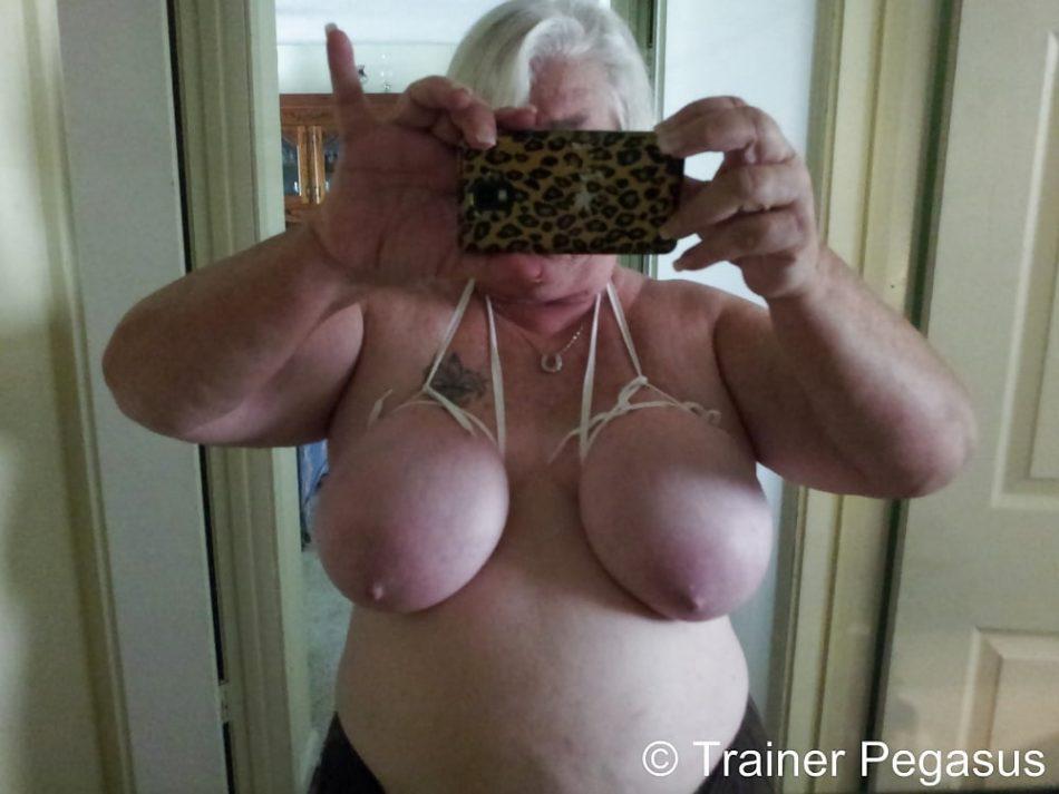 Selfie mature bondage